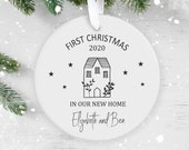 Personalised New Home Polymer Decoration, Christmas Ornament 2020, Road Name, Personalized  Christmas Ornament, First Christmas, New Home