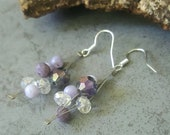 Purple Earrings, Unique and Handmade, Gifts for Her