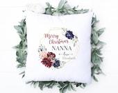 Personalised Nanny Cushion, Granny Pillow, Grandma, Nan, Any Name, Personalised Cushion, Birthday Gift, Christmas Gift, Christmas home decor