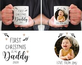 Daddy First Christmas Mug, Photo Cup Daddy 1st Christmas Present 2021, New Dad Gift, Gift For Daddy, Daddy Photo Mug, Baby's First Christmas