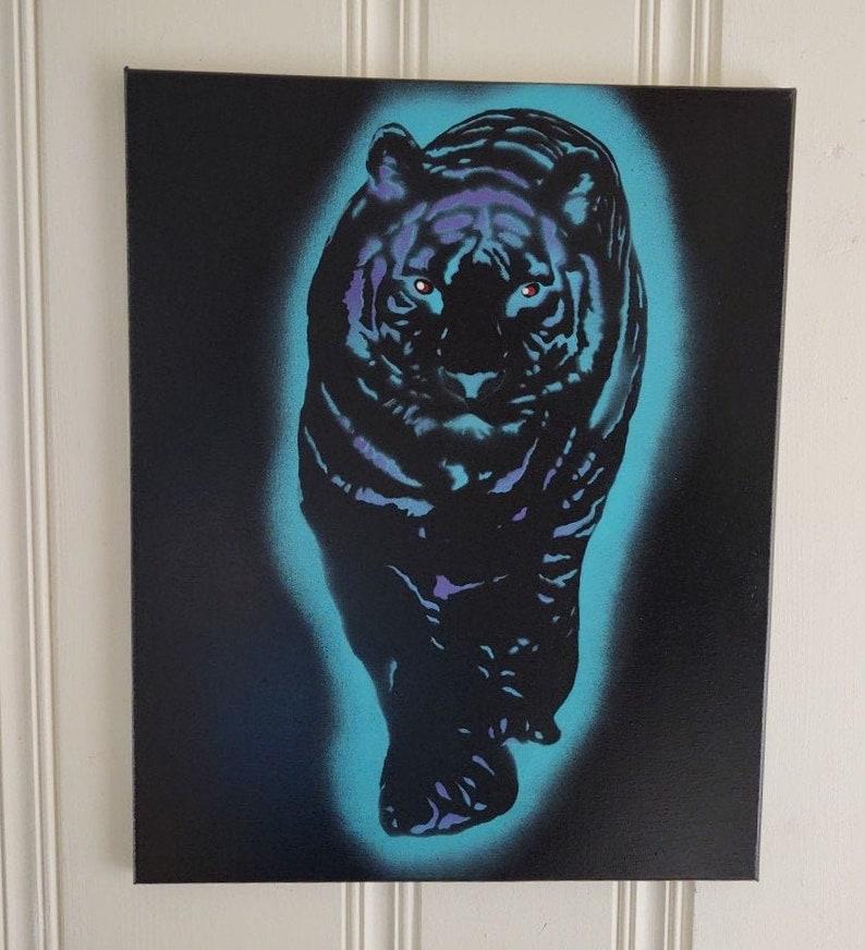 D Whitaker Ink Blue Tiger