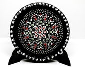 Mandala Decorative Wood Plate Collectors, Boho Trinket Tray Wooden Wall Dish