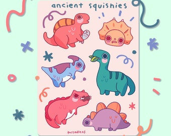 Ancient Squishies sticker sheet