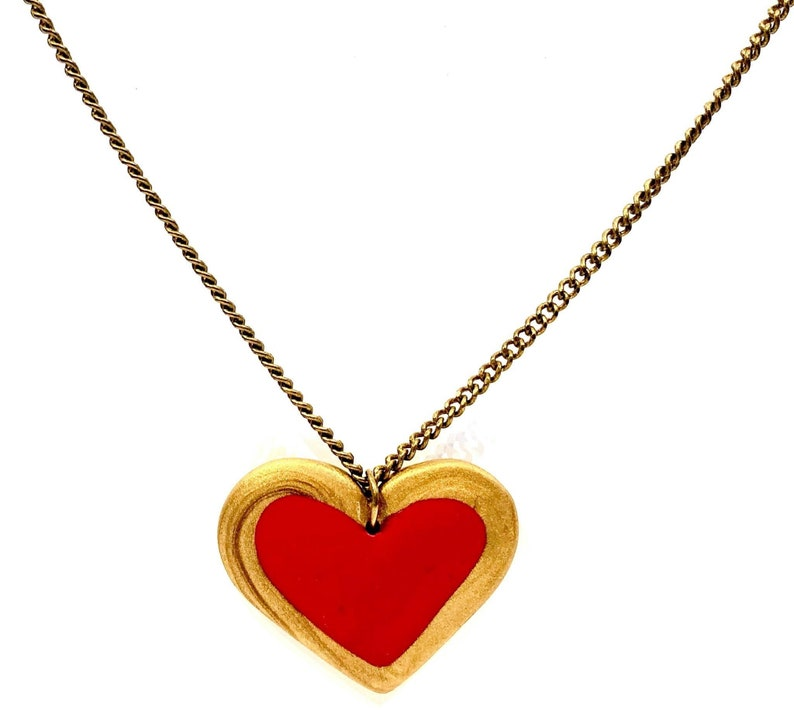 Heart Necklace RedGold