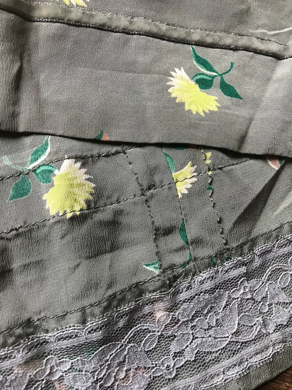 1940s Novelty Print Floral + Cherry Cold Rayon Dr… - image 9