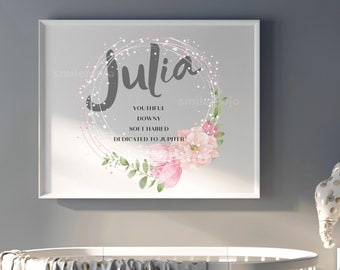 JULIA name Personalized Pillow in photos of real signs