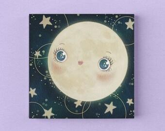 3 Postcards Postcard Set Flower Stars Moon Sun Universe