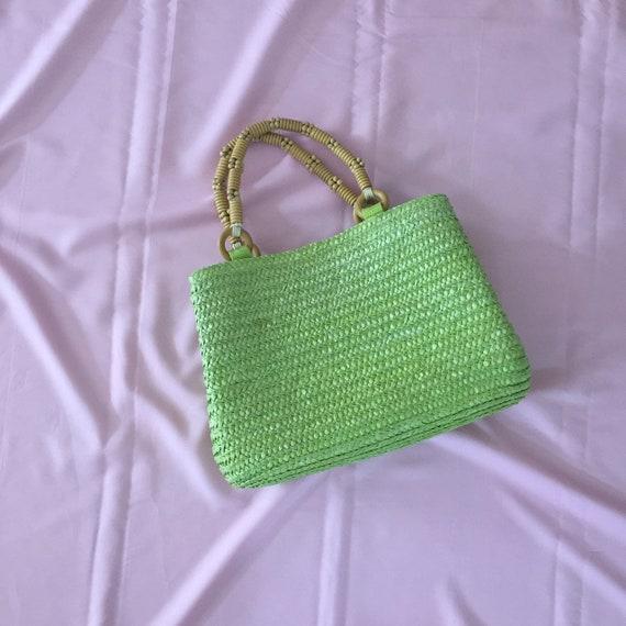 Lime green summer bag