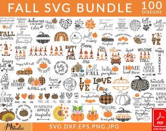 Fall svg, Happy fall svg, Fall svg bundle, Autumn svg bundle, Svg Designs, PNG, Pumpkin svg, Silhouette, Cricut