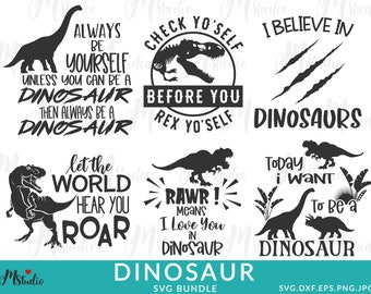 Dinosaur svg Bundle, Birthday Pack, Jurassic park, kids dinosaur svg, t-rex svg, Dinosaur Bundle svg for Cricut And Silhouette, png, svg