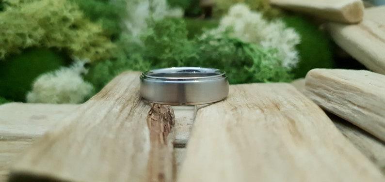 Bannock Burn Stainless Steel Satin Ring