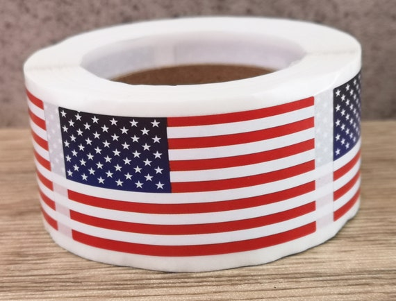 """1x2/"""" American USA Flags Stickers Patriotic Self-Adhesive Labels Sealing Decal"""