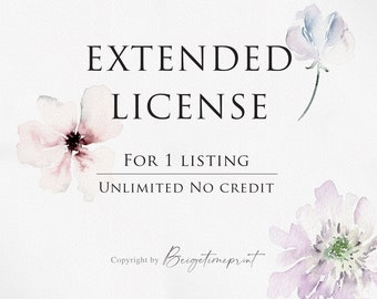 Commercial License 1 listing Unlimited with NO CREDIT
