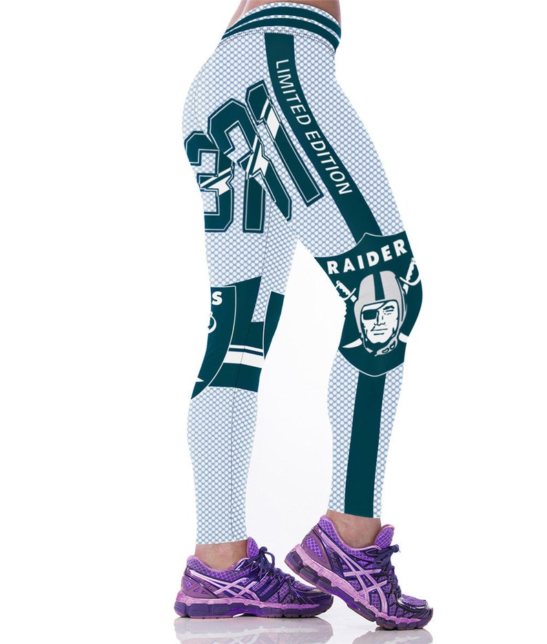 Women Sport Leggings Raiders 3d Printed Legging Gym Etsy