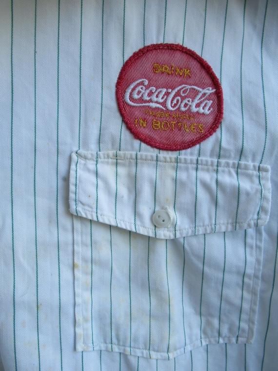 1950's Coca-Cola Uniform Shirt // Vintage Coke //… - image 9