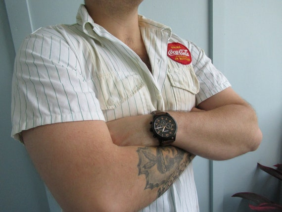 1950's Coca-Cola Uniform Shirt // Vintage Coke //