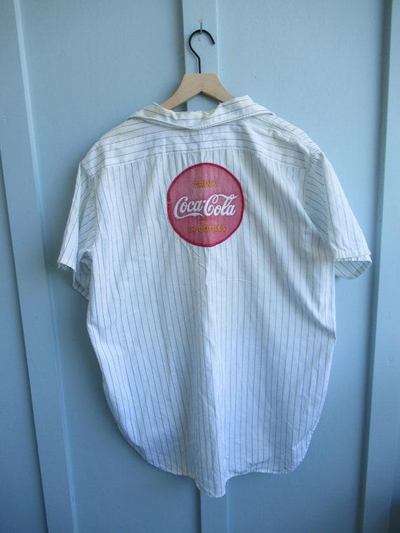 1950's Coca-Cola Uniform Shirt // Vintage Coke //… - image 4