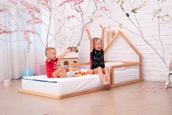 Toddler house bed Montessori floor bed kid/'s bedroom wood bed kid/'s bed