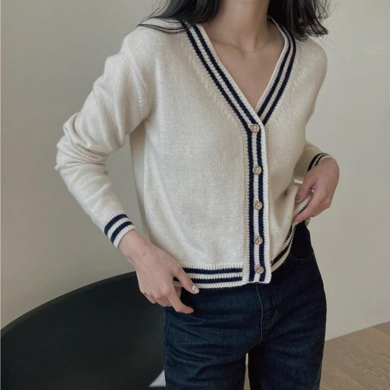 60s Shirts, T-shirts, Blouses, Hippie Shirts Sweater for women / Wool cardigan / Cardigan for women / Cozy sweater / Vintage mood sweater / V-neck cardigan / Loose fit sweater $68.00 AT vintagedancer.com