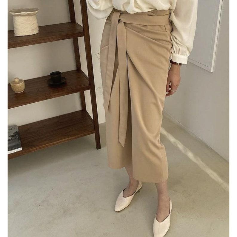 Wrap skirt  Pencil skirt  Summer skirts   long skirts   long wrap skirt  Maxi skirt  Kimono skirt  Gift for her  High-Waisted skirt