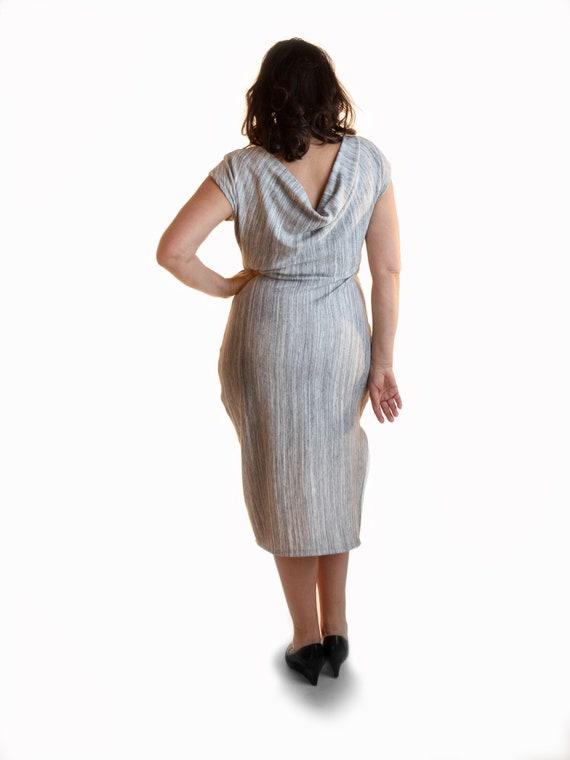 Midi Gray 2-Way Reversible Dress