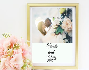 Wedding Cards and Gifts Sign - Replace our photo with yours, we will edit the photo for you!
