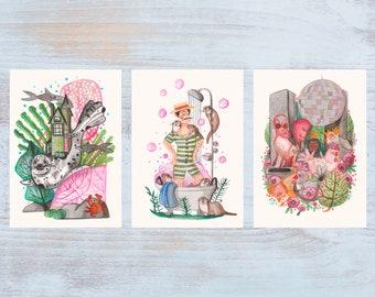 Watercolor Set - Art Prints