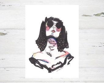 Ink Girl - Art Print