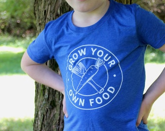 Kid garden t-shirt, Gift for Kids, Grow Food shirt, Farm shirt, Garden gift, Plant shirt, Vegetable shirt, Garden shirt youth, Youth garden