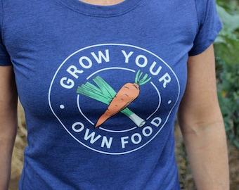 Grow your own food, Gardener shirt, Funny garden t-shirt, Garden shirt women, farm girl shirt, Gardening gift ideas, Gardening gifts for mom