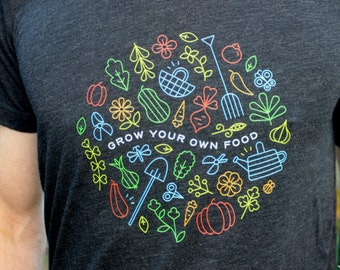 Garden lover shirt, Vegetable shirt, Garden shirt women, Garden shirt men, Gift for gardener, Garden gift for him, garden lover gift