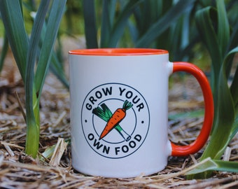 Gardening Grow Your Own Food, Gardening Mug, Gardening Gift, Gardener Mug, Gardener Gift, Garden Lover Mug, Gift For Gardener
