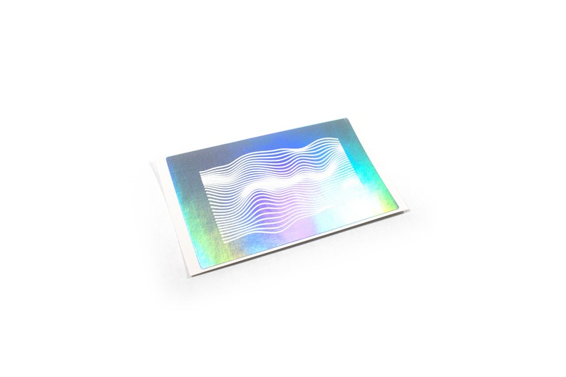 holographic decal  sticker wave