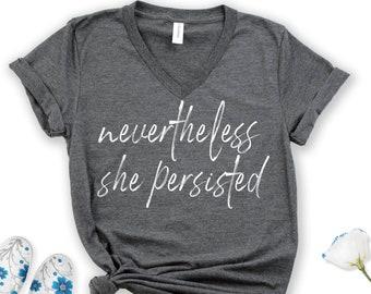 feminism protest t-shirts feminist shirt Ruth Bader Ginsburg Nevertheless She Persisted Shirt