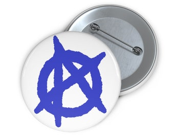 Anarchy button blue