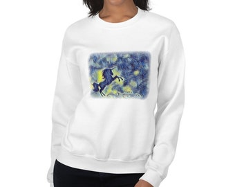 Starry Night Unicorn Sweatshirt