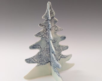 Medium Porcelain Tree Imprinted with Antique Lace by Stacey Esslinger