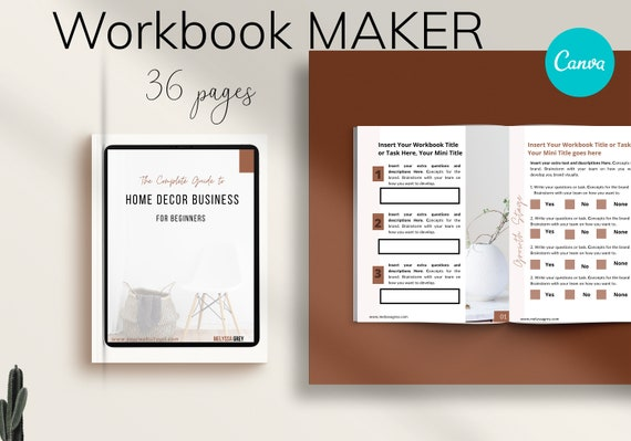 Canva Workbook Template | Lead Magnet Templates for Coaches and Bloggers, Worksheet template, Webinar workbook Canva. Lead magnet Canva