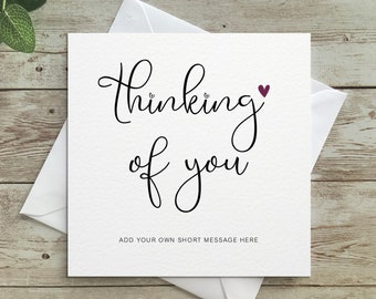 Personalised Thinking of you Card, Sorry for your loss, Sympathy, Condolences, Bereavement, Thinking of You, Personalised Card