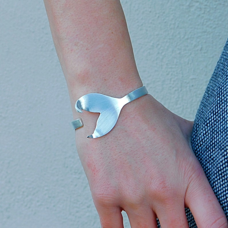 Tail bracelet Mermaid tail cuff bracelets silver Cuff bracelets mermaid bangle bracelet fairytale jewelry Solid silver bangle bracelets