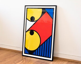 40x60cm poster - #08 geometry (squirt printing)