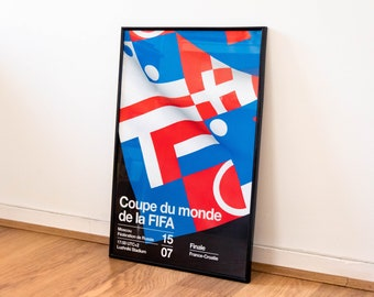 Poster 40x60cm – France vs Croatia (Football World Cup 2018)