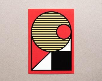 Postcard / Illustration - Geometry #02