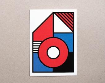 Postcard / Illustration - Geometry #04