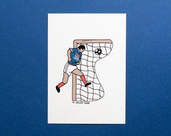 Postcard / Illustration - Zinedine Zidane, 12 July 1998