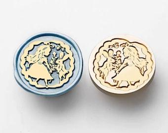 Alice in Wonderland Mad Hatter Wax seal Sticker