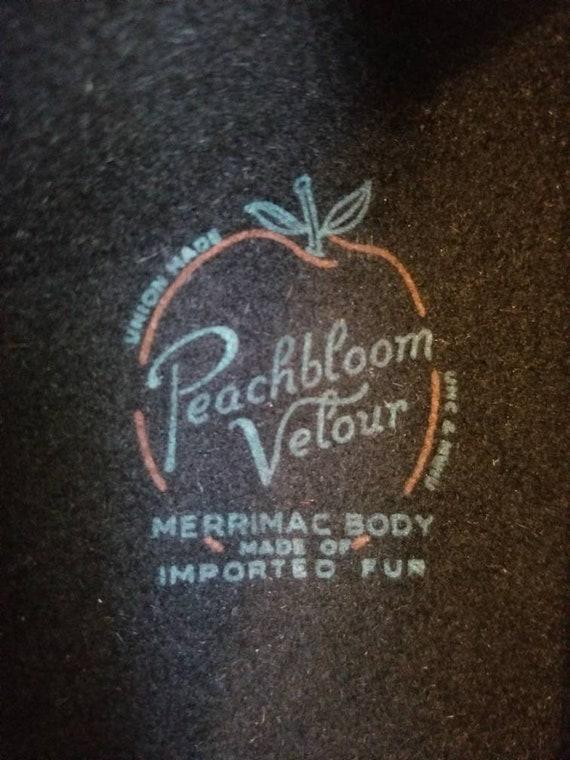 Peachbloom Velour Beret with Rhinestones & Ribbon… - image 9