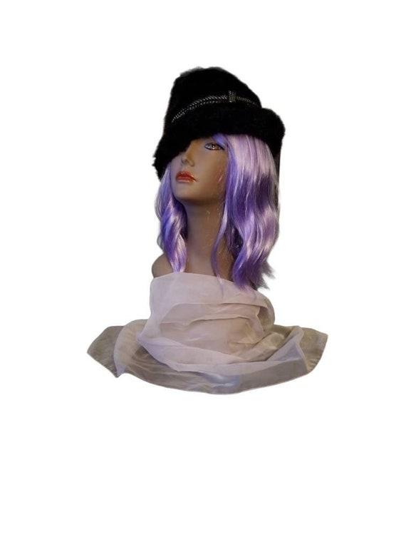 Union Made Faux Fur Hat / 60s Faux Fur Hat / 60s B
