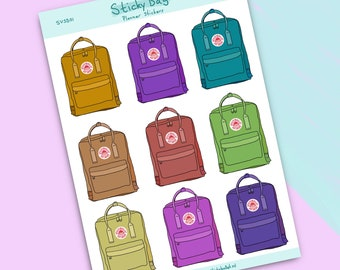 Backpack Stickers - StickyBag // Great for bullet journaling, scrapbooking, school supplies, gift wrapping and more!