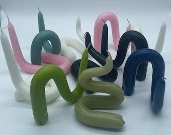 Twist Candles | Bent Candles | Decor Candles | 16 colors